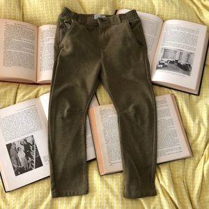 Zara Boy's Olive Green Stretch Pants sz 5